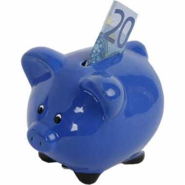 Blauwe spaarvarkens