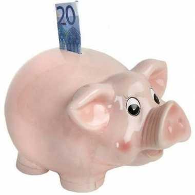 Roze spaarpot/spaarvarken 26 cm