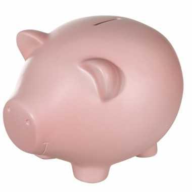 Roze spaarvarken xxl 32 cm