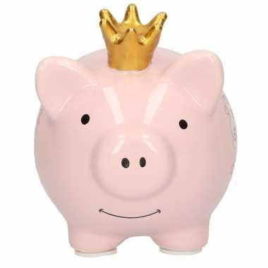 Spaarpot varken/spaarvarken mijn eerste spaarpotje 12 cm geboorte cadeau